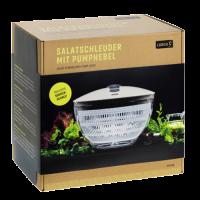 Vorschau: Salatschleuder mit Pumphebel iron grey/weiß
