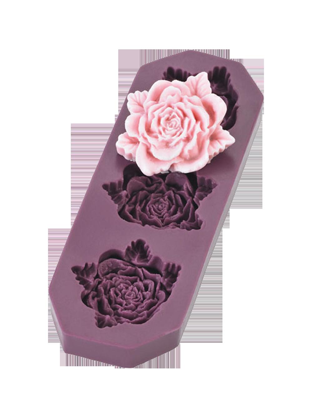 Flexiform Prägeform Rosen groß 4,5cm beere