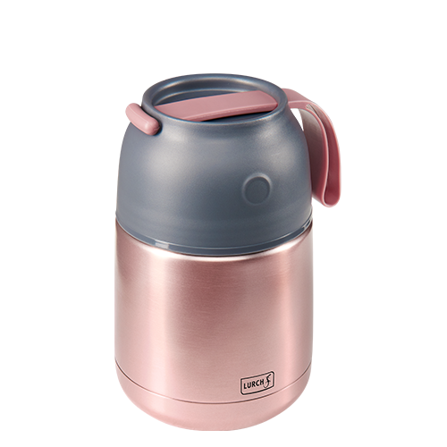 Thermo-Pot Edelstahl 450ml rosa-metallic