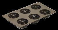 Vorschau: Flexiform Gugelhupf Mini 6fach braun