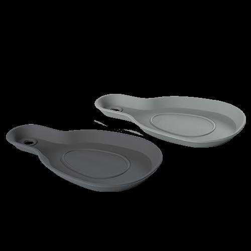 Kochlöffelablage Silikon 2er Set flint-/iron grey