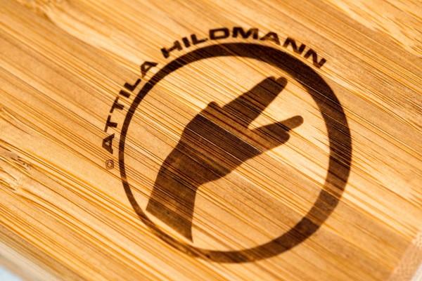 Schneidbrett Bambus Attila Hildmann 400x300x45mm