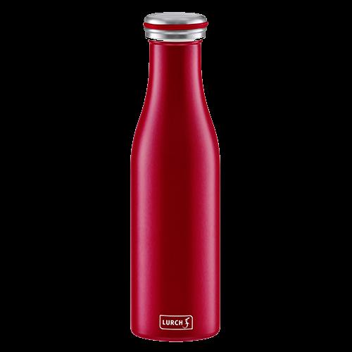 Isolier-Flasche Edelstahl 0,5l bordeaux