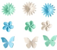 Vorschau: 3D-Former Chrysantheme skyblue