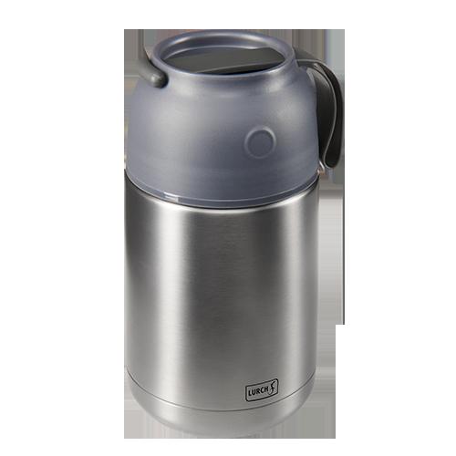Thermo-Pot Edelstahl 680ml grau-metallic