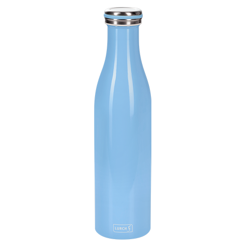 Isolier-Flasche Edelstahl 0,75l light blue
