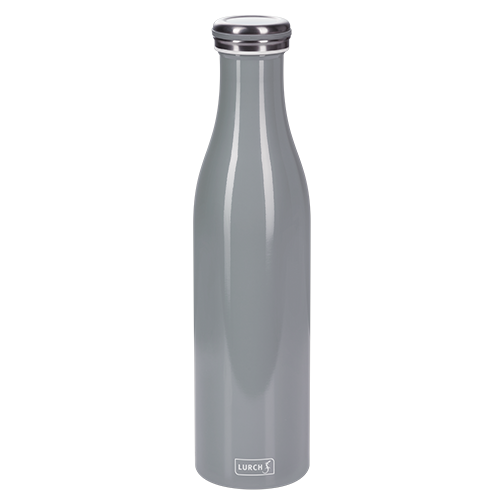 Isolier-Flasche Edelstahl 0,75l perlgrau