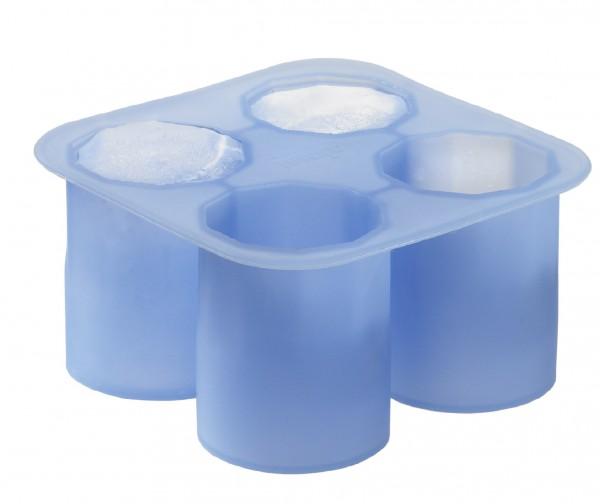 Eiswürfelbereiter Schnapsglas eisblau