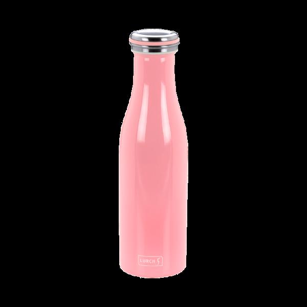 Isolier-Flasche Edelstahl 0,5l soft pink