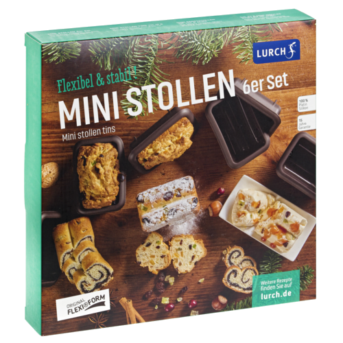 Flexiform Mini Stollen 6er Set braun