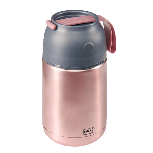 Iso-Pot Edelstahl 680ml rosa-metallic