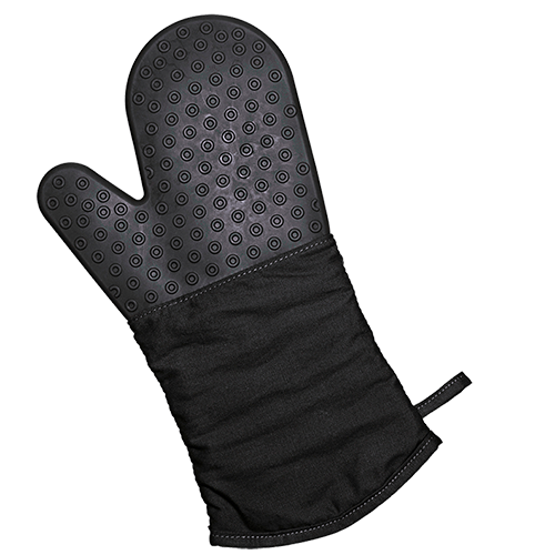 Backhandschuh Silikon/Textil schwarz