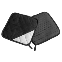 Vorschau: Topflappen Silikon/Textil schwarz Paar