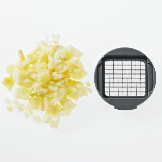 Knoblauchschneider steingrau/weiß