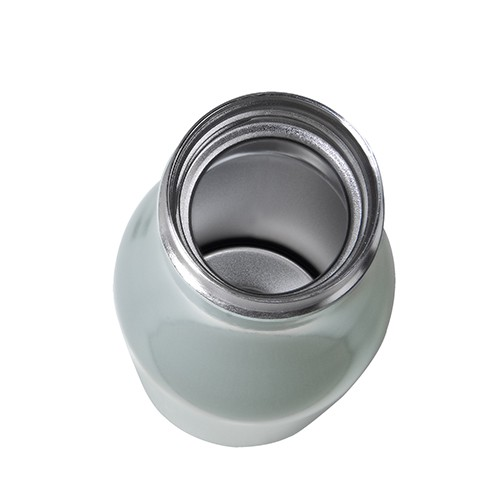 thermo flasche edelstahl 0 5l perlgrau glasdeckel. Black Bedroom Furniture Sets. Home Design Ideas