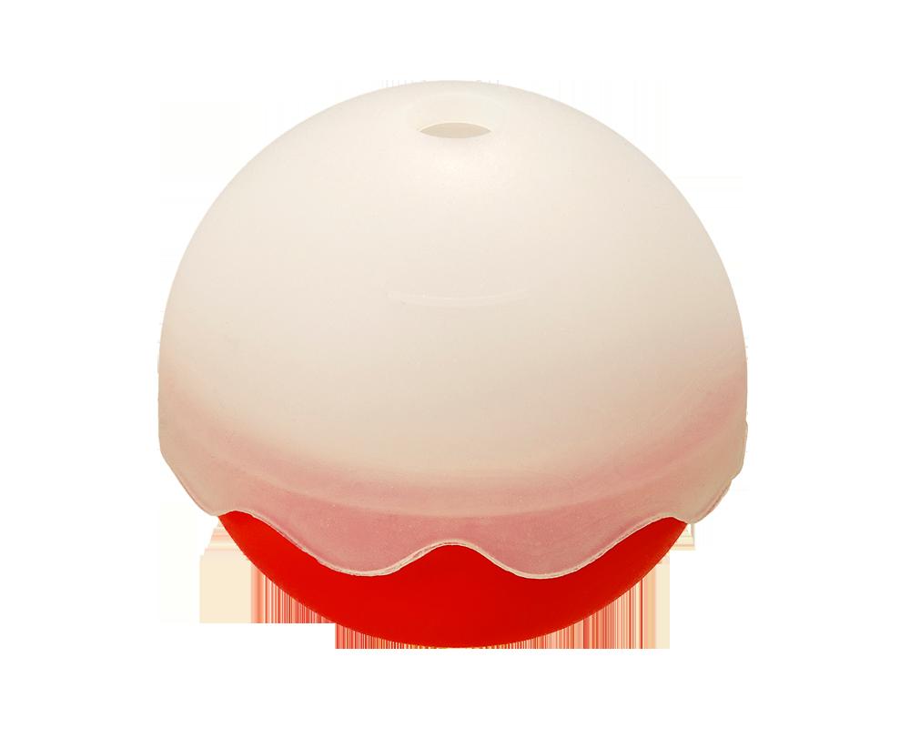 Eiswürfelbereiter Eisball Ø65mm rot