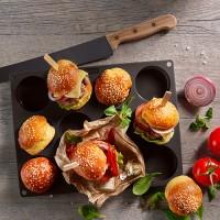 Vorschau: Flexiform BurgerBun Size S Ø6cm 12fach braun