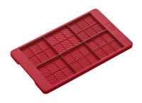Vorschau: Flexiform Schoko-Täfelchen 12x20,5cm ruby