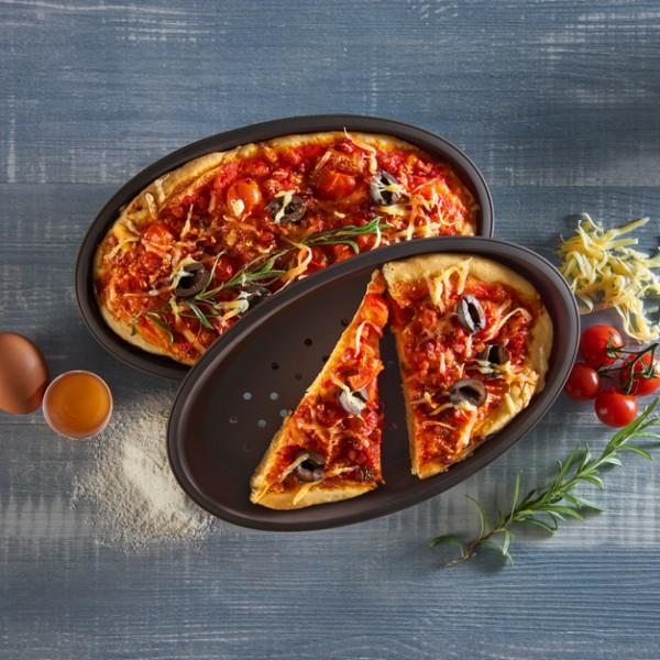 Flexiform Pizza 2er Set braun
