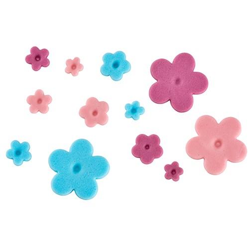 Ausstecher mit Auswerfer Blüte 4er Set ruby