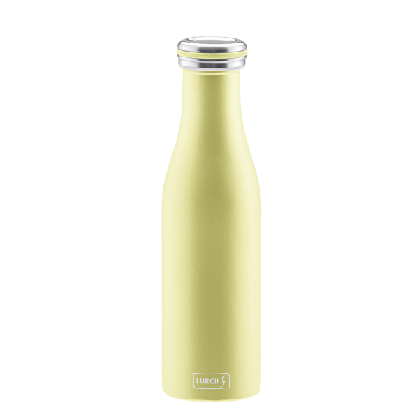 Isolier-Flasche Edelstahl 0,5l pearl yellow