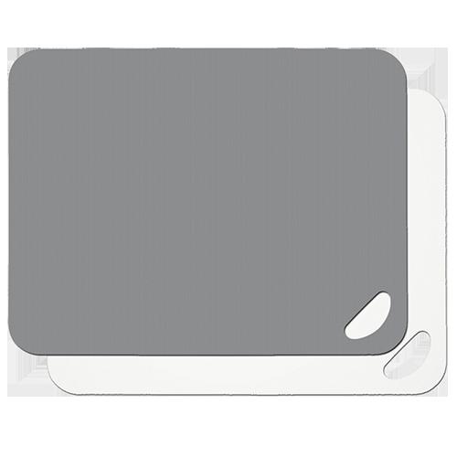 Schneidbretter Flexi flint grey/weiß Set