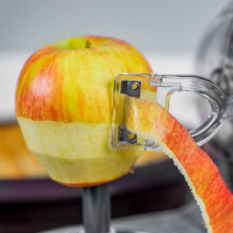 Lurch Apfelschäler mit sehr scharfer Klinge und Handkurbel