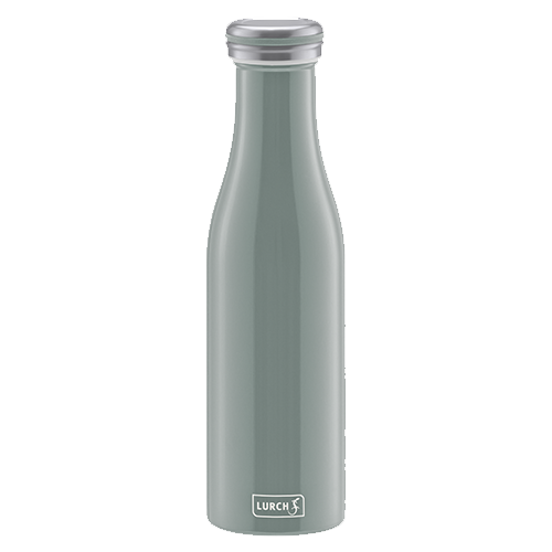 Isolier-Flasche Edelstahl 0,5l perlgrau