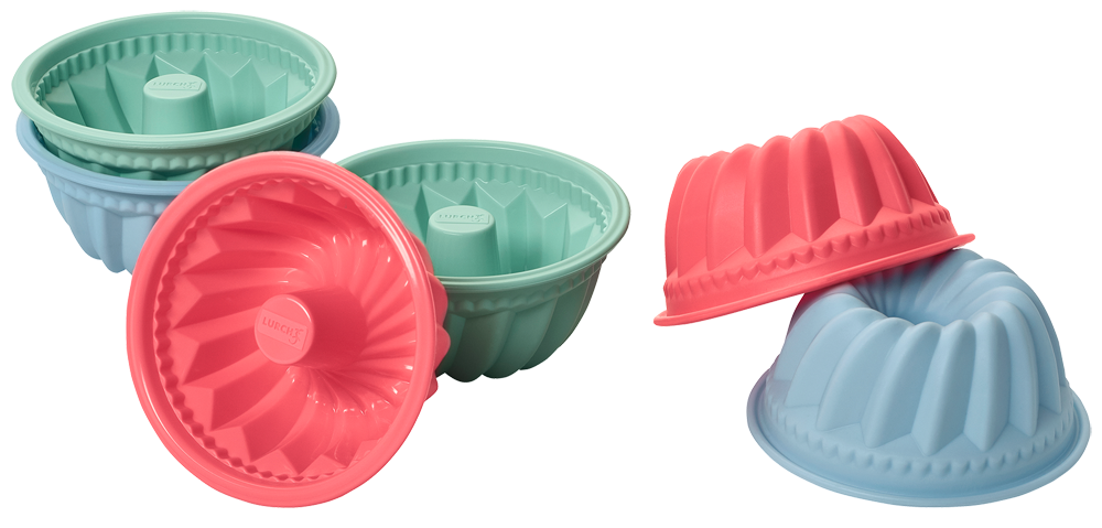 Flexiform Muffinliner Gugelhupf 6er Set Pastel Mix