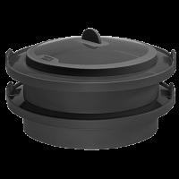 Vorschau: Dampfgarer Silikon anthrazit