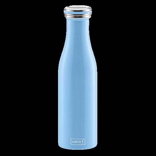 Isolier-Flasche Edelstahl 0,5l light blue