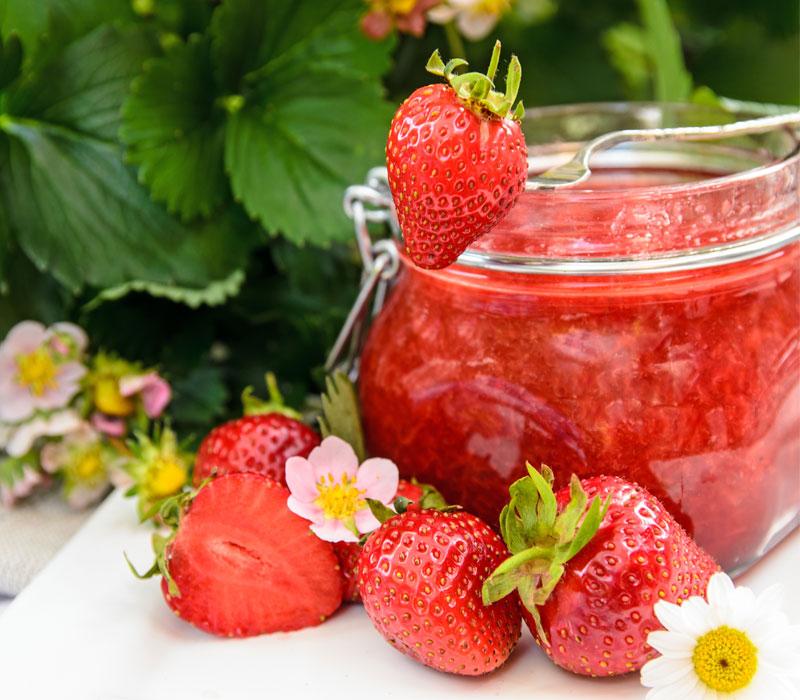 Erdbeeren lagern, einkochen, Rezepte