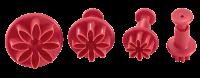 Vorschau: Ausstecher mit Auswerfer Margerite 4er Set ruby