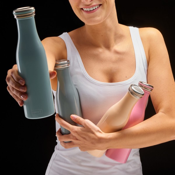 Thermo-Flasche Edelstahl 0,5l perlgrau
