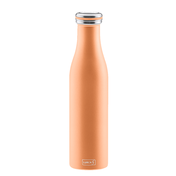 Isolier-Flasche Edelstahl 0,75l pearl orange