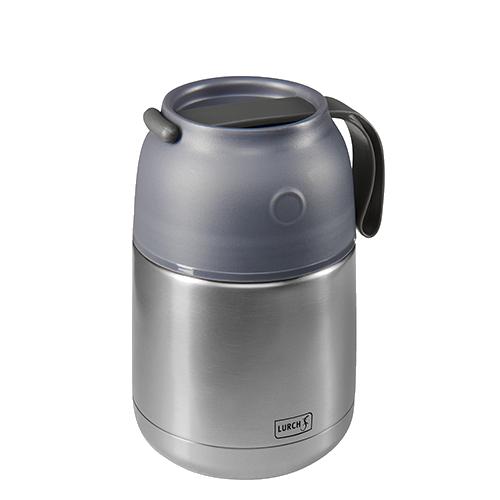 Thermo-Pot Edelstahl 480ml grau-metallic