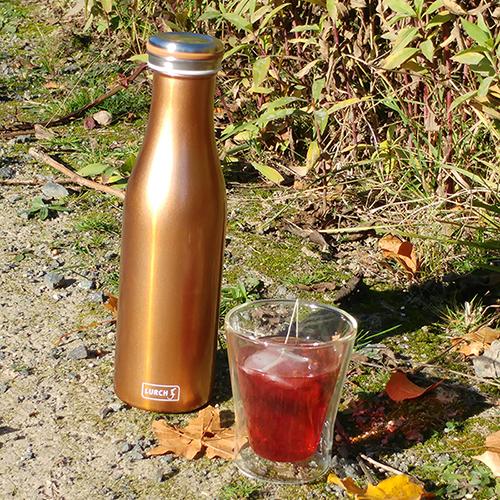 Thermo-Flasche Edelstahl 0,5l bronze-metallic