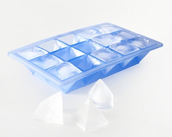 Eiswürfelbereiter Pyramide 3,2x3,2x3cm eisblau