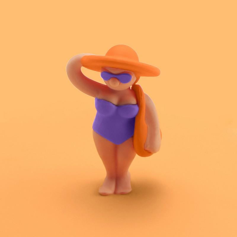 Mein Deckel Beach Girls Theresa Tasche von Lurch - Silikondeckel