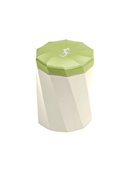 Mini-Spirali cremeweiß/grün