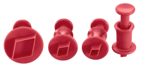 Vorschau: Ausstecher mit Auswerfer Diamant 4er Set ruby