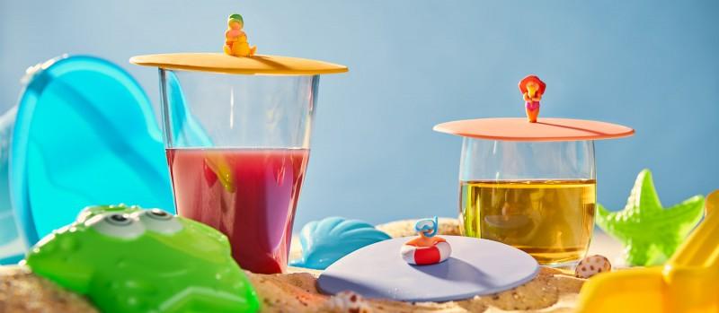 Mein Deckel Beach Kids von Lurch - Silikondeckel