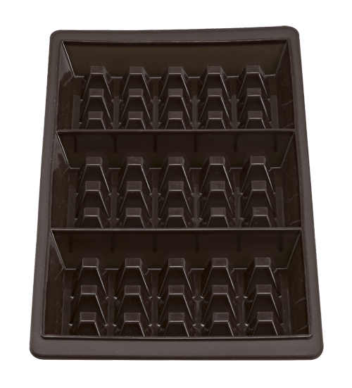 Flexiform Waffel 29x14,5cm 3fach 2er Set braun