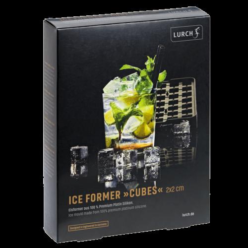 ICE FORMER Würfel 2x2cm schwarz transparent