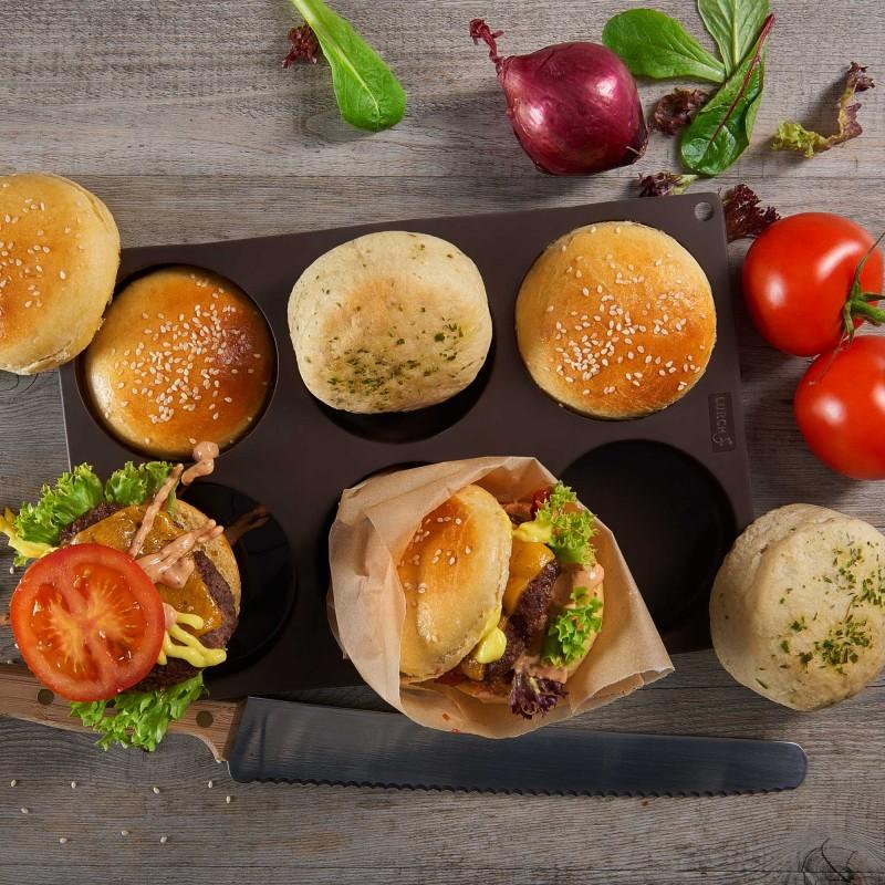 Lurch Silikonbackform für unsere besten Burgerbuns / Burgerbrötchen