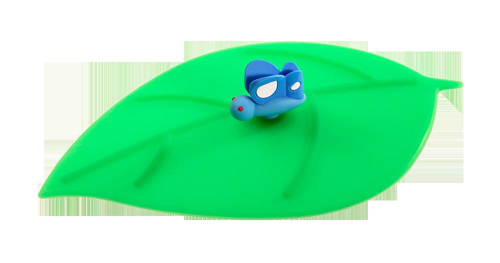 Mein Deckel Blatt Schmetterling blau