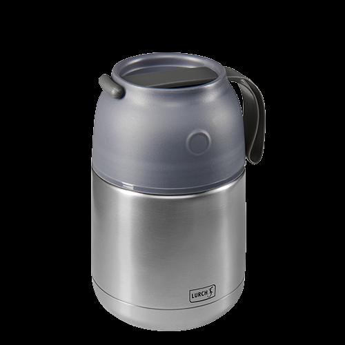 Thermo-Pot Edelstahl 450ml grau-metallic