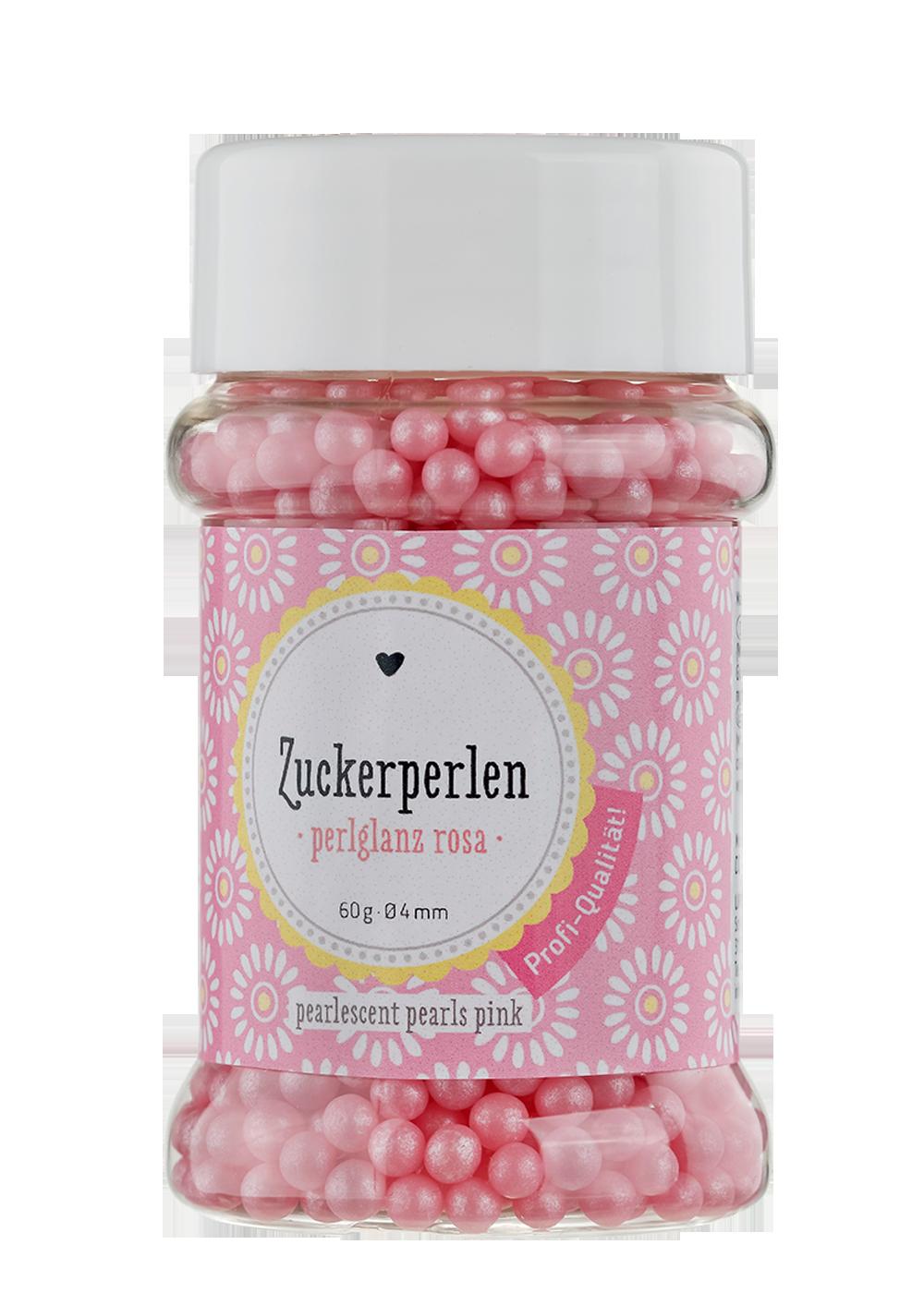 Zuckerperlen Perlglanz rosa Ø4mm 60g Dose