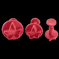 Vorschau: Ausstecher mit Auswerfer Efeu 3er Set ruby