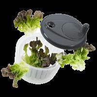 Vorschau: Salatschleuder mit  Kurbel steingrau